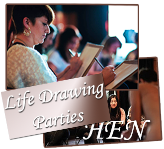 Life Drawing Hen Party Classes